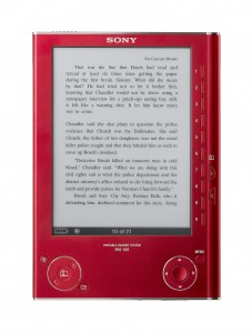 Sony Reader in Red
