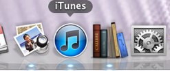 iTunes in Dock