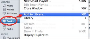 File Add to Library iTunes