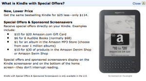 Tuesday Links: The Kindle with Special Offers
