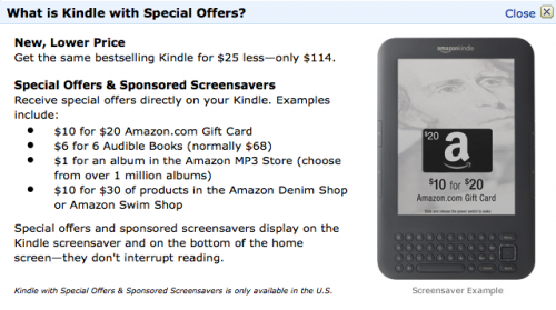 Kindle with benefits