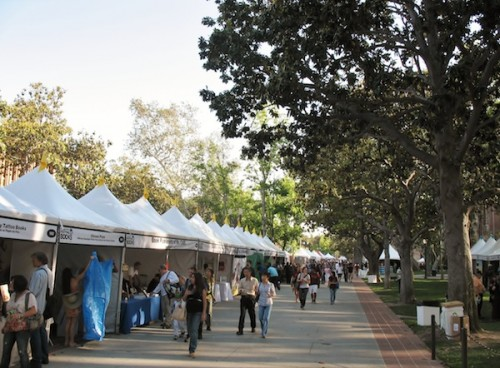 LA Festival of Books tents