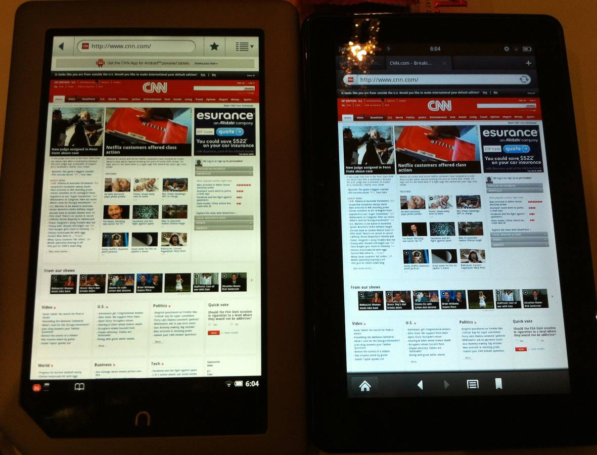 Comparison Review of the Nook Tablet and Kindle Fire