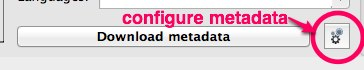 configure metadata calibre
