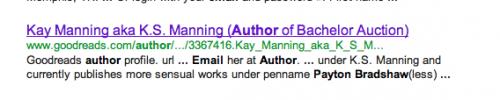 Kay Manning screenshot pennames
