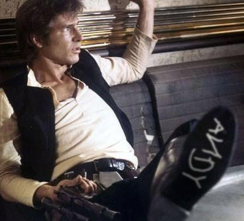 Han Solo with Andy on his foot