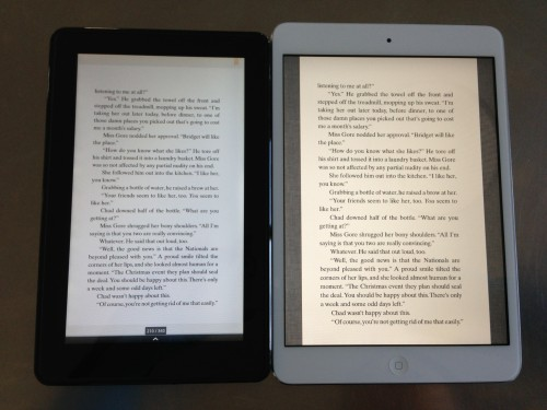 Kindle Fire v. iPad Mini PDF