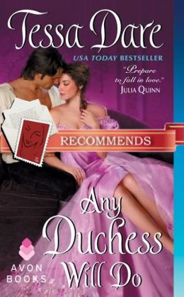 REVIEW:  Any Duchess Will Do by Tessa Dare
