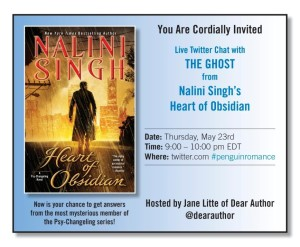 Tuesday News: Twitter chat with the Ghost from Nalini Singh's series; Amazon and Apple fight over public disclosure of trial information; Stephen King snubs ebooks