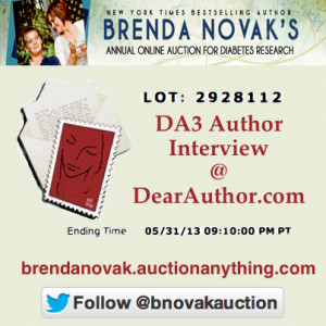 Author Interview at Brenda Novak Auction