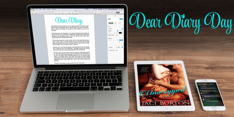 DEAR DIARY GIVEAWAY from Jaci Burton and New Releases, Week of September 22, 2015