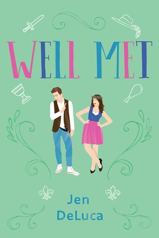Cartoon type cover; a green background with a dark-haired male/female couple - she's wearing a crown made of roses and he's got a black vest